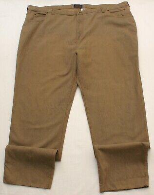2677 Unhemmed New MENS PANTS Sizes 33 38 46 52 or 58 KHAKI//TAN Large BIG /& TALL