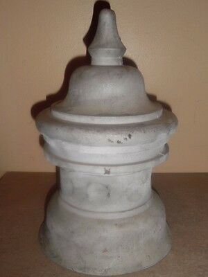 Vintage Cast Alum. Finial  Architectural Home Decor  indoor/outdoor 13.5 Tall!