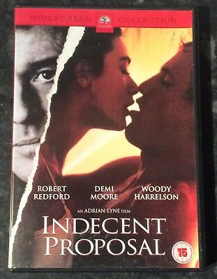 Indecent Proposal Dvd (Demi Moore-Robert Redford) Very Good Condition Free Post