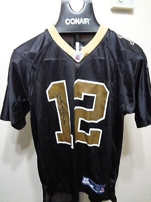 a6dcefbb273 New Orleans Saints 12 Marques Colston NFL Reebok Authentic Youth Jersey L  14-16