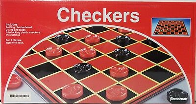 Checkers Board Game- Classic Checkers Game By Pressman