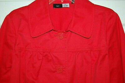 SAKS FIFTH AVENUE SPORT Red Fashion Jacket SIGNATURE BUTTONS Darling Detail 14