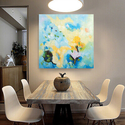 *Abstract Flowers* Hand Painted Canvas Oil Painting Wall Art Home Decor Framed