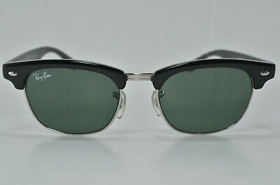 99abeea29d Authentic Ray-Ban Clubmaster Junior RJ9050S 100 71 Black Green Sunglasses