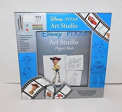 Disney PIXAR Art Studio Project Step by Step Hardcover Book (English) w Supplies