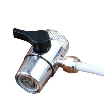 Solid Brass T-adapter with Shut-off Valve 3-way Tee Connector for Handheld