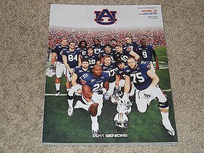 2011 Auburn Tigers v Alabama Crimson Tide Iron Bowl Football Program (26-21)