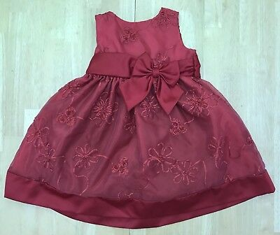 Rare Editions Christmas Toddler.Toddler Girls 2t Rare Editions Red Holiday Christmas Fancy Occasion Dress