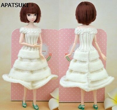 1:6 Doll Accessories Party Dress Knitting Sweater Dress For 1/6 Doll Clothes Toy