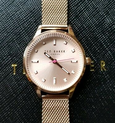b4234d549 Ted Baker Women s Zoe Watch with 32mm Rose Gold Face   Rose Gold Mesh  Bracelet