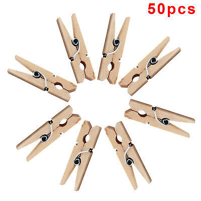 Mini Pegs Wooden Peg Clip Clamp Wood Natural Small 30mm UK Seller