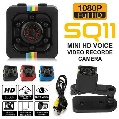 SQ11 Spy Hidden DV DVR Camera Full HD 1080P Mini Dash Car IR Cam Night Vision