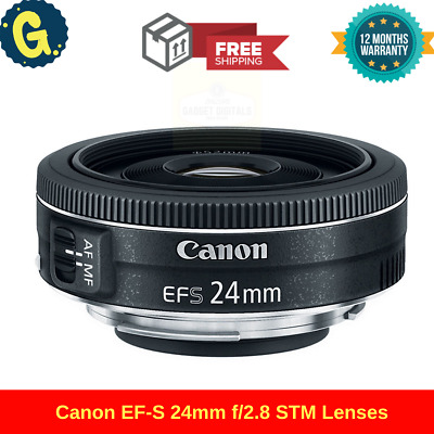 New CANON EF-S 24mm f/2.8 STM Wide Angle Prime Lens for Camera EOS DSLR SALE UK