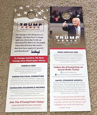10 President Donald Trump Official Campaign Door Hangers Make America 2016 2020