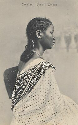 Uganda 1912: Post card Mombasa Comoro Woman