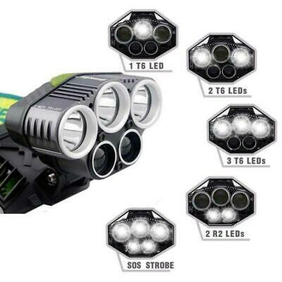 50000LM T6 Headlamp LED Rechargeable Headlight Torches Super Flashlight White.