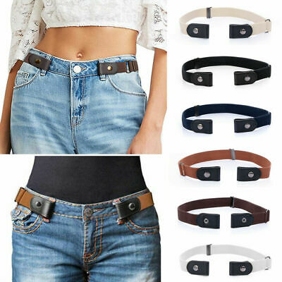 Buckle-Free Elastic Belt for Jean Pants Dresses No Buckle Stretch Waist Belts