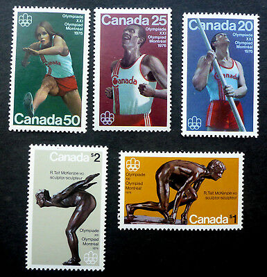 "Canada #656-7 & #664-6 Mint Vf Nh** ""1976 Montreal Olympics""  Cat.$12.85"