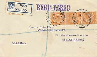 Uganda 1930: registered Njoro to Goslar