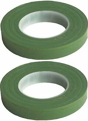"""6 Pack Green Floral Tape Stem Wrap 1/2"""" X 30 Yards 180 yards Total Flower Tapes"""