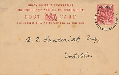 Uganda 1902 post card Entebbe