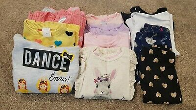 Size 2 Girls Winter Clothing (jumpers, lomg sleeve tops, leggings and dress)