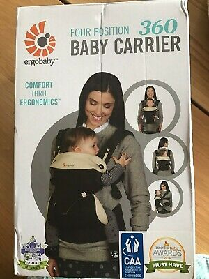 Immaculate Ergobaby 360 4-Position Carrier. Front/Reverse Wearing + baby insert