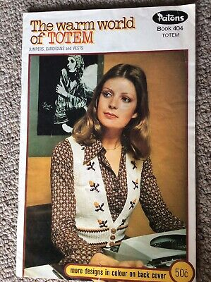 Vintage Patons Knitting Pattern Book 404 The Warm World of Totem