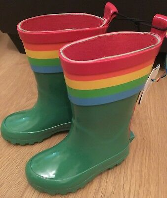 Mothercare Little Bird By Jools Oliver Green Infant 4 Wellington Boots 🌈 BNWT