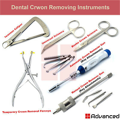 Dental Crown Removing Instruments Automatic Crown Removal Gun Manual Forceps New