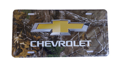 "Chevrolet Chevy Cars Trucks SUVs Camo Camouflage Tag 6""x12"" License Plate Sign"