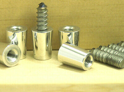 "5 Pack Beer Tap Handle Ferrule 3/8""-16 with 3/8""X1.5"" Hanger Bolt Repair Parts"