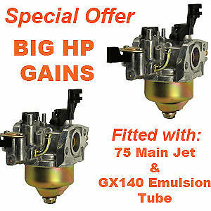 2 x GX200 Carb Bored To 17mm SPECIAL WEEKEND OFFER
