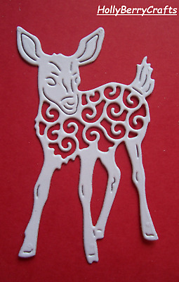 """RETIRED TATTERED LACE CHRISTMAS SEASONAL DIE CUT TOPPERS ~ /""""FAWN/"""""""
