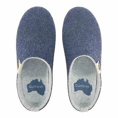 Gumbies - OUTBACK SLIPPER Grey & Charcoal Pantoffeln Schlappe Chaussons