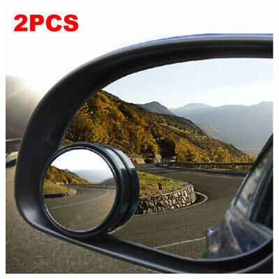 2x360° Car Rearview Mirror Driver Side Blind Spot Wide Angle Round Universal New