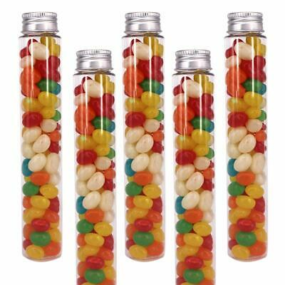 5 TEST TUBES w/Caps 1 5 oz Sealable Containers Plant Seeds, Food