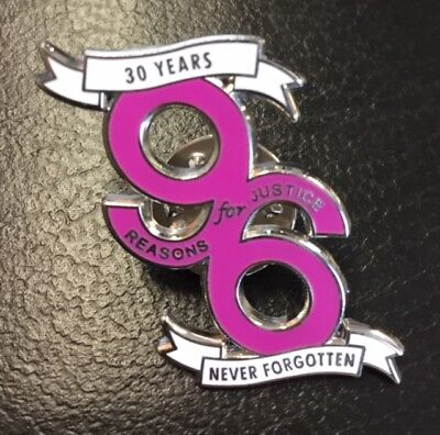 30 Years Of Hillsborough Justice For The 96 Liverpool - Pink Enamel Pin Badge