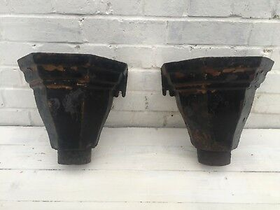 Pair Victorian Cast Iron Hoppers