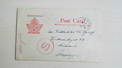 PC Canada Active Service Canadian Service Chaplain Army Post Office Censor 1919