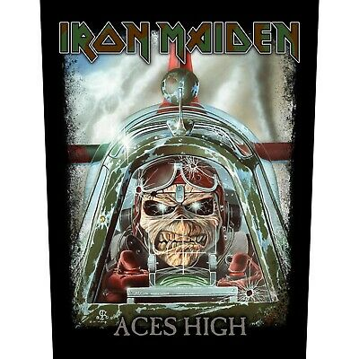 Iron Maiden Aces High Jacket Back Patch Official Heavy Metal New