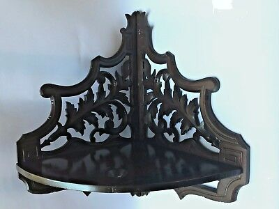 Old Antique Victorian Wall Corner Wood Shelf Woodwork Hand Made