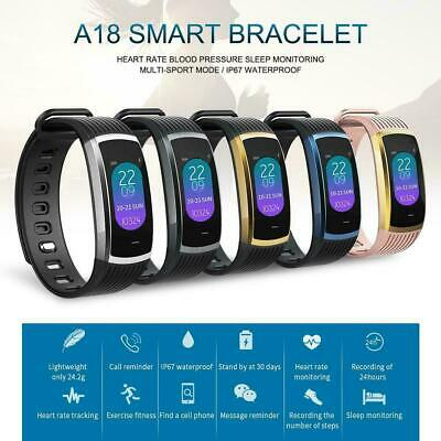 A18 Color Screen Smart Watch Sports Heart Rate Fitness Tracker For Android IOS