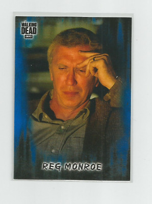 2018 Topps Amc Walking Dead Hunter's & The Hunted:#75 Reg Monroe Blue Parallel