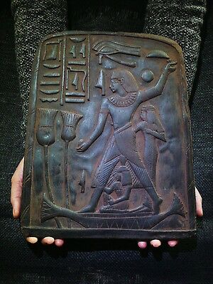 EGYPTIAN ANTIQUE ANTIQUITIES Accountant Nebamun Stela Relief 1400-1350 BC