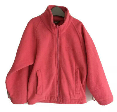 Girls fleece jacket size 3-4 years pink Higear zipped front with pockets