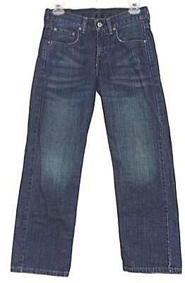 Levis boys 12 Regular Loose Straight Fit 569 blue jeans vgc 100% thick cotton