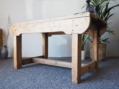 Vintage Farmhouse Pine Workbench/ Kitchen Dining Table UK DELIVERY AVAILABLE