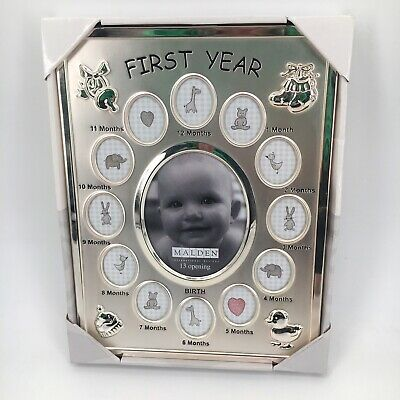 Malden Baby's First Year Photo Frame Baby Shower Gift