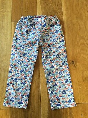 Mini Boden Girls Cotton Ditsy Floral Print Cotton Trousers Jeans Age 9
